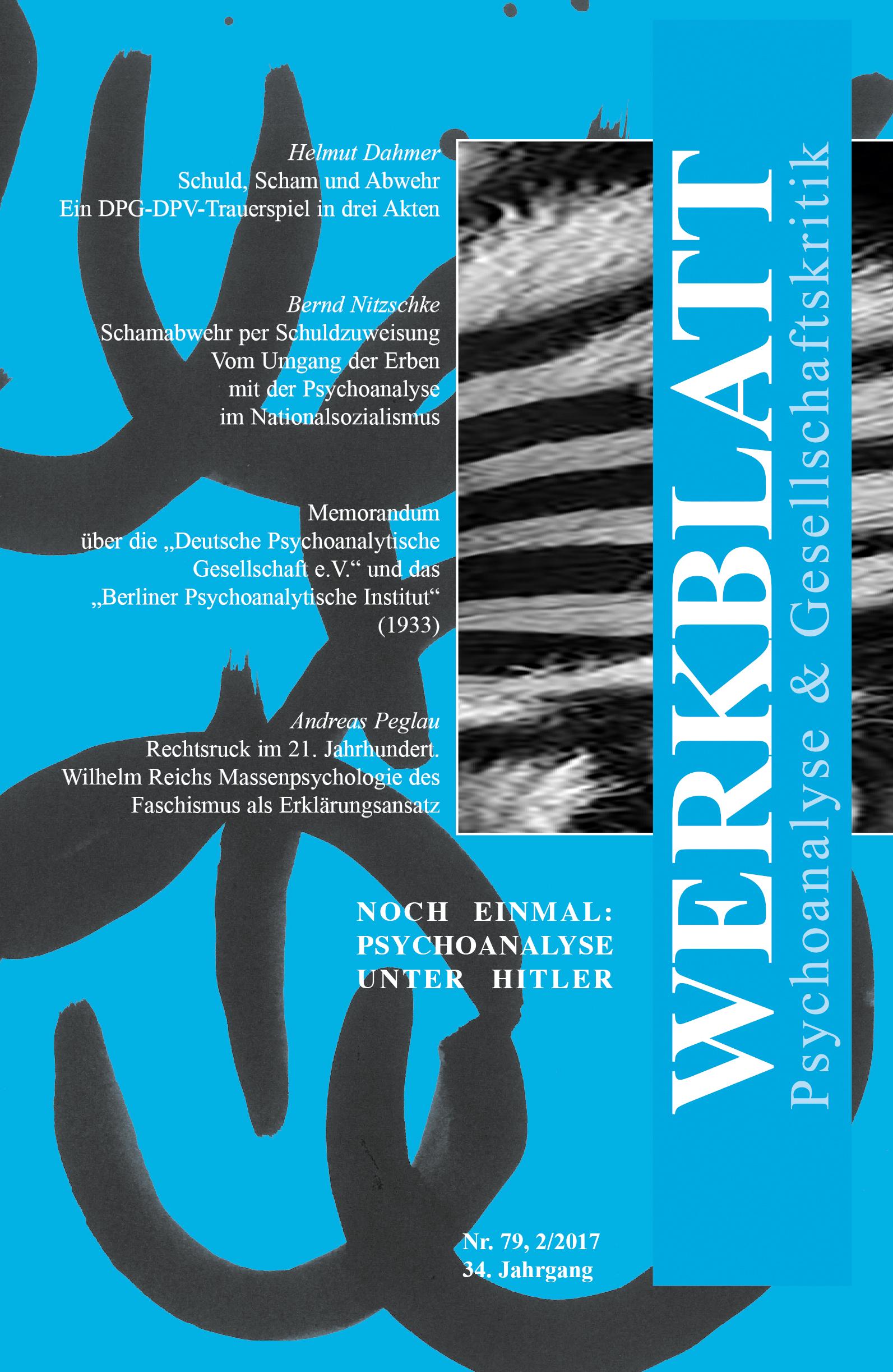 Werkblatt Zeitschrift für Psychoanalyse und Gesellschaftskritik